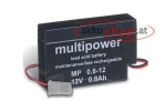 Multipower MP0.8-12: 12 V, 0.8 Ah with AMP-plug